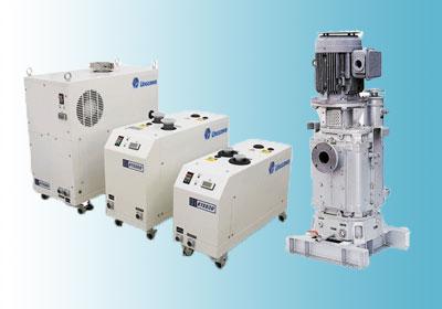 开发了世界首创的干式真空泵的经验和诀窍,以及多年的业绩积累,带来了【多级罗茨式干式真空泵」系列的诞生